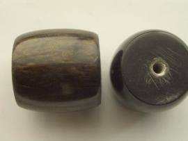 117465/4539- resin kraal 27x23mm mosgroen/zwart