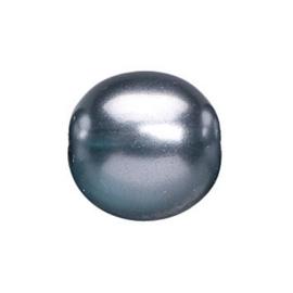2219 181- 25 stuks glasparels bohemisch blauw/grijs van 6mm