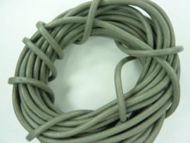 5 meter echt leren veter grijs van 3mm dik - AAA kwaliteit - SUPERLAGE PRIJS!