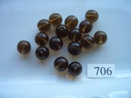 glaskralen 10mm rond 706