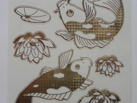 st563- vissen transparant goud