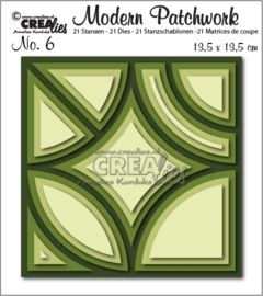 CE115634/0806- Crealies modern patchwork - no.6 - 135x135mm