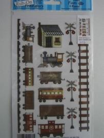 5027- treinen Rub-on transfer
