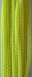 CE800700/7106- 20 stuks chenille draden van 30cm lang en 6mm dik lemon