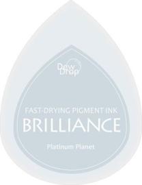 132019/1092- brilliance stempelkussen dew drops platina planet 3.5x5cm