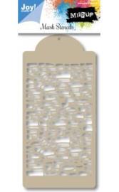6002/0833 - Joy! crafts embossing achtergrondstencil poly-besa - baksteen