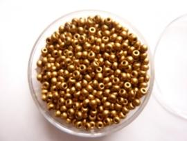 636- 2.5mm glazen rocailles goudbrons in een doosje ca 17gram- 3118 070 -