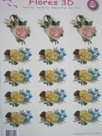 kn/543- A4 knipvel AANBIEDING foli art no.002 bloemen