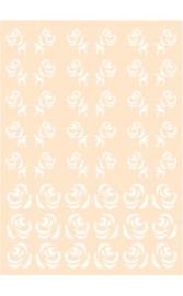 6002/0879 - Joy! crafts embossing achtergrondstencil poly-besa - roosjes
