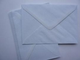 8130- 10 x enveloppen standaard formaat C6 16x11.5cm wit