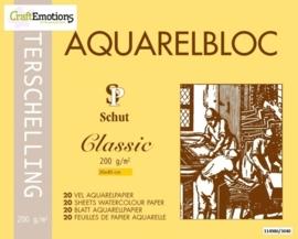 CE114986/3040- 20 vel Schut Terschelling aquarelbloc classic 200grams 30x40cm