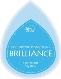 132019/1038- brilliance stempelkussen dew drops pearl sky blue 3.5x5cm