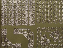 st 403- randjes met hoekjes goud 10x20cm