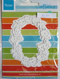 0002431- Marianne Design Craftables stencil bloemenkader 10x8cm - OPRUIMING