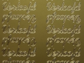 ST-203- verloofd goud 10x20cm