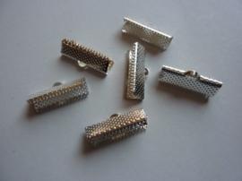 6 x lintklemmen van 20mm breed zilverkleur - SUPERLAGE PRIJS!