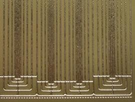 st 453HT- rechte rand met hoekjes goud