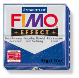 CE610303/1302- fimo effect 56gr glitter blauw -302