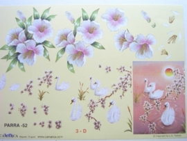 """kn/500- A4 knipvel """"parra"""" no.52 bloemen/dieren"""
