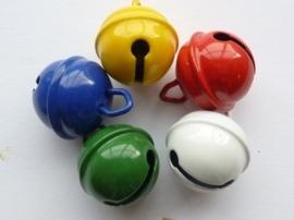 008608/0199- 5 stuks kattenbelletjes van 19mm in bonte kleuren AA