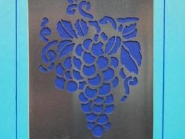 02483- embossingplaatje druiven 7x5cm OPRUIMING
