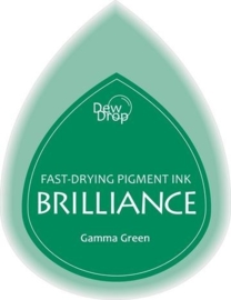 132019/1021- brilliance stempelkussen dew drops gamma green 3.5x5cm