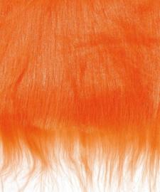 8410 100- lap van 14x20cm pluche / imitatie bont langharig oranje