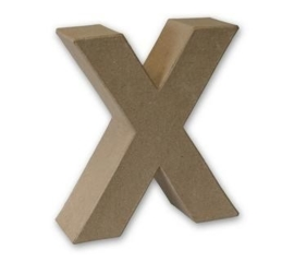 1929 3124- stevige decoratie letter van papier mache - 3D letter X