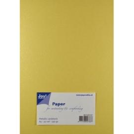 JOY8099/0207- 20 vellen cardstock papier linnen structuur 250grams A5 - metallic creme