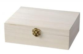 KN8735 713- 3 stuks houten kistjes met sluiting 27.7x16.8x7cm