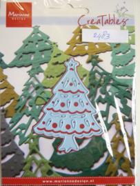 0002483- Marianne Design Creatables stencil nr.175 kerstboom 7.5x6cm OPRUIMING