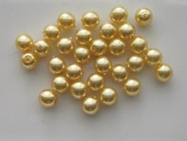 2273- 30 x glasparels 6mm geel