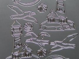 st 298- maritiem zilver 10x20cm
