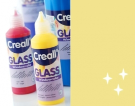 CE301800/0574- Creall Glass - glasstickerverf - window color - 80ML glittergoud