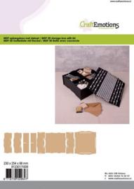 CE812301/1009- MDF opbergdoos met deksel 230x254x88mm