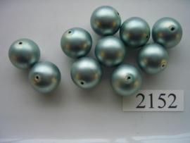 glasparels rond 14mm 2152 - halfmat