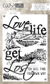 CE130630/1026- Coosa Crafts clearstamp A6 - love life