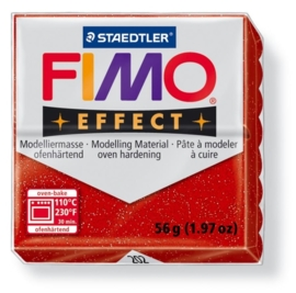 CE610303/1202- fimo effect 56gr glitter rood -202