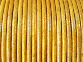 5 meter echt leren veter antiek naturel van 2mm dik - AA+ kwaliteit - SUPERLAGE PRIJS!