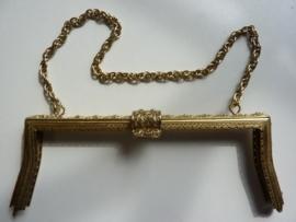 38 - tasbeugel met ketting 22cm bronskleur