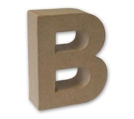 1929 3102- stevige decoratie letter van papier mache - 3D letter B