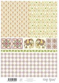 kn/1583- A4 knipvel Marij Rahder achtergrond roze - 117140/2758