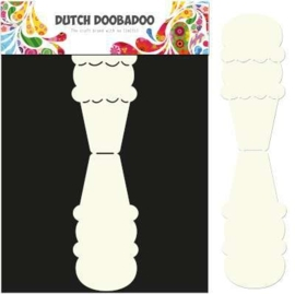CE185071/3581- Dutch Doobadoo Dutch card art stencil ijsje A4