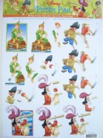 kn/600- A4 knipvel Disney Peter Pan nr.3