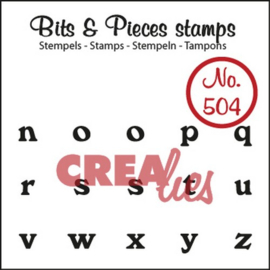 CE130505/0504- Crealies clearstamp bits & pieces no.504 N t/m Z