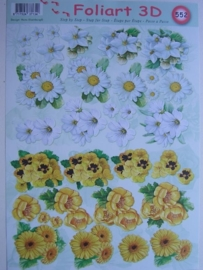 kn/448- A4 knipvel AANBIEDING foli art no.552 bloemen