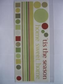 5118- diverse woorden stickers 30.5x13cm S.E.I
