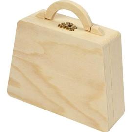 CE811755/1714- houten kistje tas met handvat 17.5x14x5.5cm