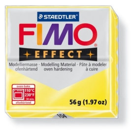 CE610303/6104- fimo effect 56gr transparant geel -104