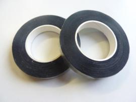 1 rol ouderwetse topkwaliteit bloemencrepeband zwart van 13mm breed